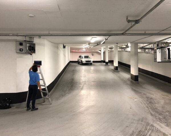 Installing Zonal Tracking in Parking Deck